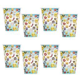 Emoji Papír Parti Pohár - 270 ml, 8 db-os