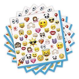 Emoji Papír Parti Szalvéta - 33 cm x 33 cm, 16 db-os