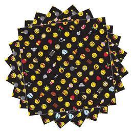 Emoji - Smiley Emoticons Parti Szalvéta - 33 cm x 33 cm, 20 db-os