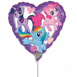 9 inch-es My Little Pony Heart Szív Fólia Mini Shape Lufi