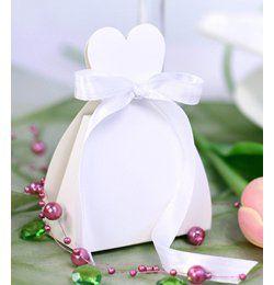 Menyasszonyi Ruha Alakú Ajándékdoboz - 10 db-os