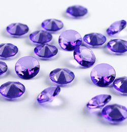 Lila Gyémánt Alakú Kristály hatású Dekorkő - 100 db-os
