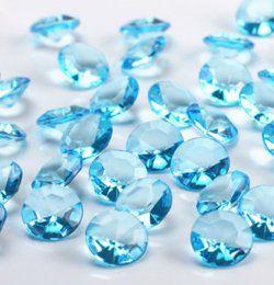 Türkizkék Gyémánt Alakú Kristály hatású Dekorkő - 100 db-os