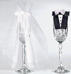 Esküvői Pohárruha Szett