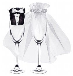 Esküvői Pohárruha Szett - 20 db-os