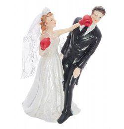 Boxoló Menyasszony Esküvői Pár Tortadísz