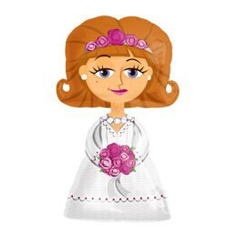 Sétáló Menyasszony - Bride Esküvői Héliumos Fólia Lufi