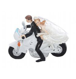 Esküvői Pár Motoron Tortadísz