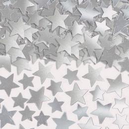 Ezüst Csillag Alakú Fólia Parti Konfetti - 141 gramm