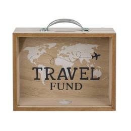 Fa Pénzgyűjtő Bőrönd Nyaralásra