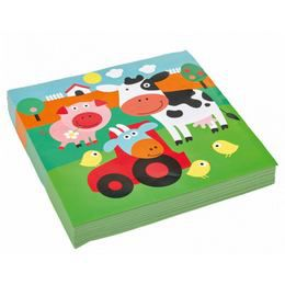 Farm Állatok - Farm Fun Papír Parti Szalvéta - 33 cm x 33 cm, 20 db-os
