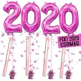 FCK! 2020 Szilveszteri Héliumos Csomag - Rózsaszín