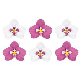 Fehér és pink orchidea, papírból készült virágok lakásba, esküvőre?