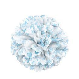 Fehér, Hópehely Mintás Bolyhos Függő Dekoráció
