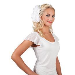 Fehér Csatos Virág Dísz Hajba
