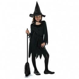 Fekete Boszi Lányka Jelmez Halloween-re - 4-6 éveseknek