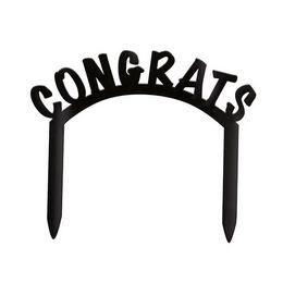 Fekete Congrats Tortadísz