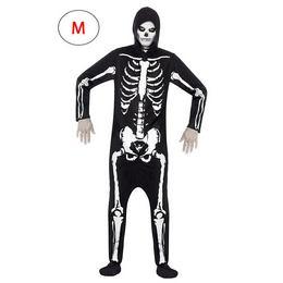 Fekete Csontváz Férfi Jelmez - M