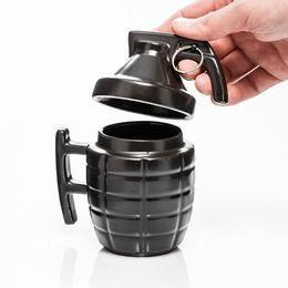 Fekete Kézigránát Kávés Bögre
