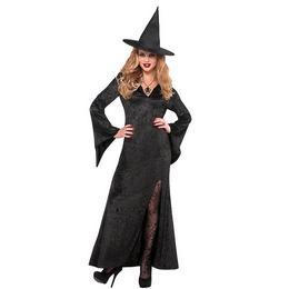 Fekete Női Boszorkány Jelmez Halloween-ra