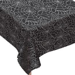 Fekete Pókhálós Asztelterítő Halloween-re, 130 cm x 230 cm