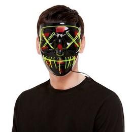 Fekete Zöld LED-es Világító Maszk