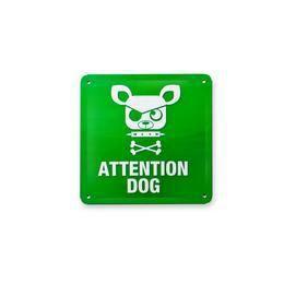 Figyelem! Kutya Fémtábla