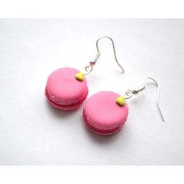 Mókás Lógós Fülbevaló - Rózsaszín Macaron