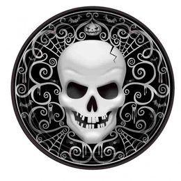 Koponyás Halloween Tányér - Fright Night, 27 cm