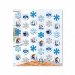 Frozen - Jégvarázs Hópelyhes Parti Függő Dekoráció - 150 cm