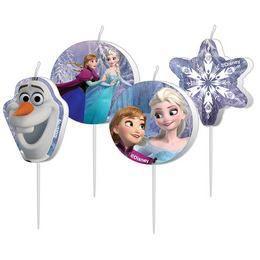 Frozen - Jégvarázs Parti Gyertya Szett - 4 db-os