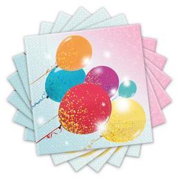 Lufis - Glittering Balloons Parti Szalvéta - 33 cm x 33 cm, 20 db-os