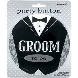 Groom To Be - Vőlegény Esküvői Óriás Kitűző