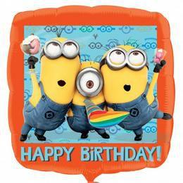 17 inch-es Minion - Despicable Me Happy Birthday - Szülinapi Héliumos Fólia Lufi