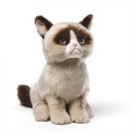 Grumpy Cat Ülő Cica Plüss