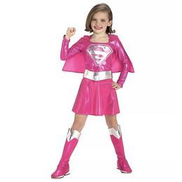 Supergirl Jelmez Kislányoknak - Rózsaszín