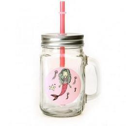Hableány Befőttes Üveg Pohár - Pink