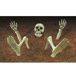 Földbe Szúrható Halloween Csontváz részek