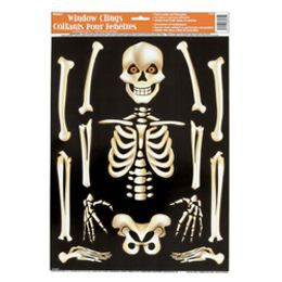 Csontvázas Ablakdekoráció - 30 cm x 40 cm