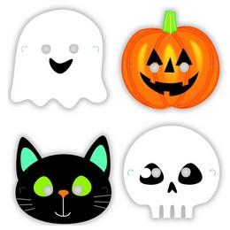 Halloween Karakterek Papír Maszk