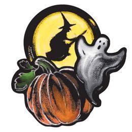 Halloween Karton Dekoráció - 6 db-os
