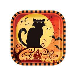 Spooky Hollow Halloween Parti Tányér - 18 cm, 10 db-os