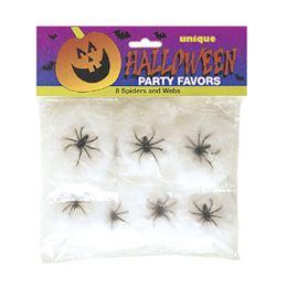 Mini Pókháló 1 db Pókkal - 8 db-os