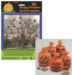 Tökfejes Zacskók Függő Dekoráció Halloweenre