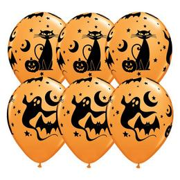 11 inch-es Fun and Spooky Icons - Halloween Mintás Lufi (25 db/csomag)