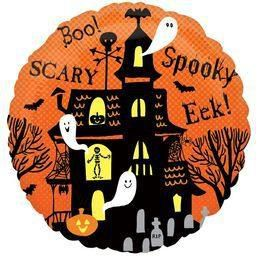 18 inch-es Spooky Haunted House Héliumos Fólia Lufi
