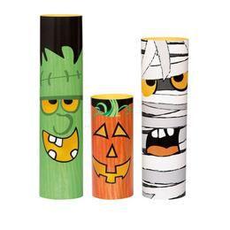 Halloween Szörnyes Asztaldísz - 3 db-os