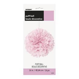 Halvány Rózsaszín Bolyhos Függő Dekoráció - 41 cm