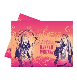 Hannah Montana Parti Asztalterítő - 120 cm x 180 cm
