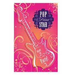 Hannah Montana Parti Meghívókártya - 6 db-os